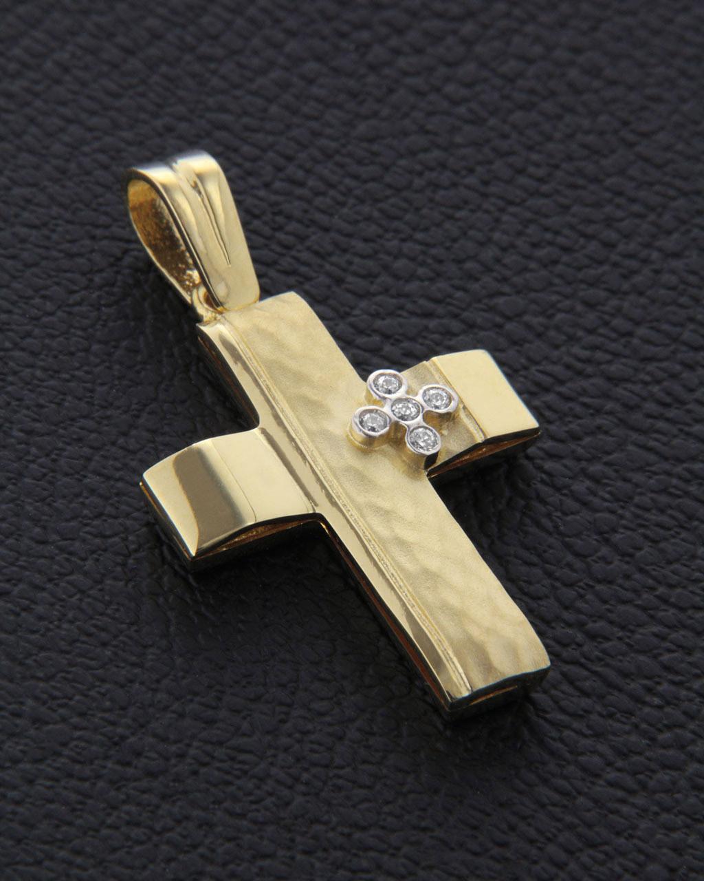Σταυρός βαπτιστικός χρυσός Κ14   γυναικα σταυροί σταυροί λευκόχρυσοι