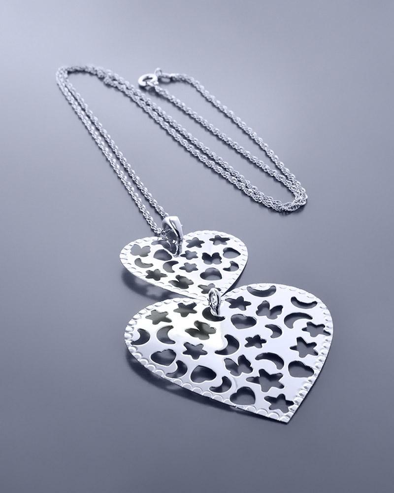 Κολιέ καρδιά ασημένιο 925   κοσμηματα κρεμαστά κολιέ κρεμαστά κολιέ καρδιές