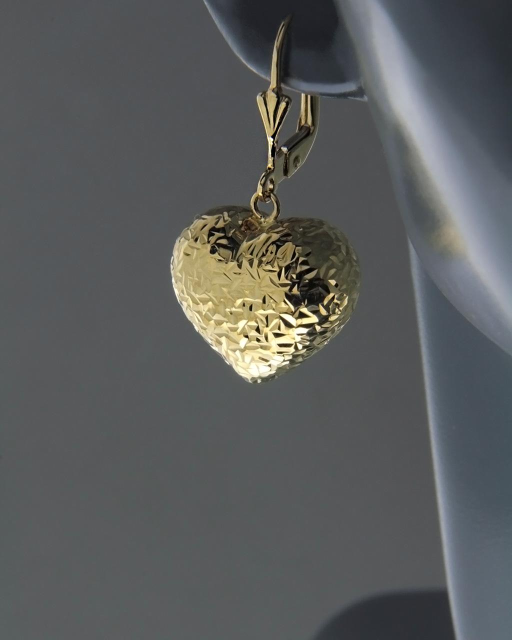 Σκουλαρίκια καρδιές χρυσά Κ14   γυναικα κοσμήματα με καρδιές