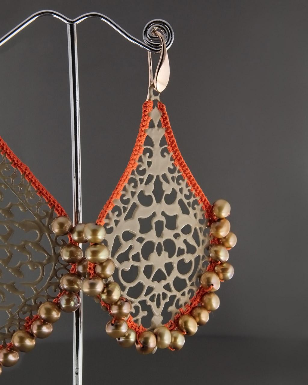 Σκουλαρίκια με Σμάλτο & Μαργαριτάρια   γυναικα σκουλαρίκια σκουλαρίκια ημιπολύτιμοι λίθοι