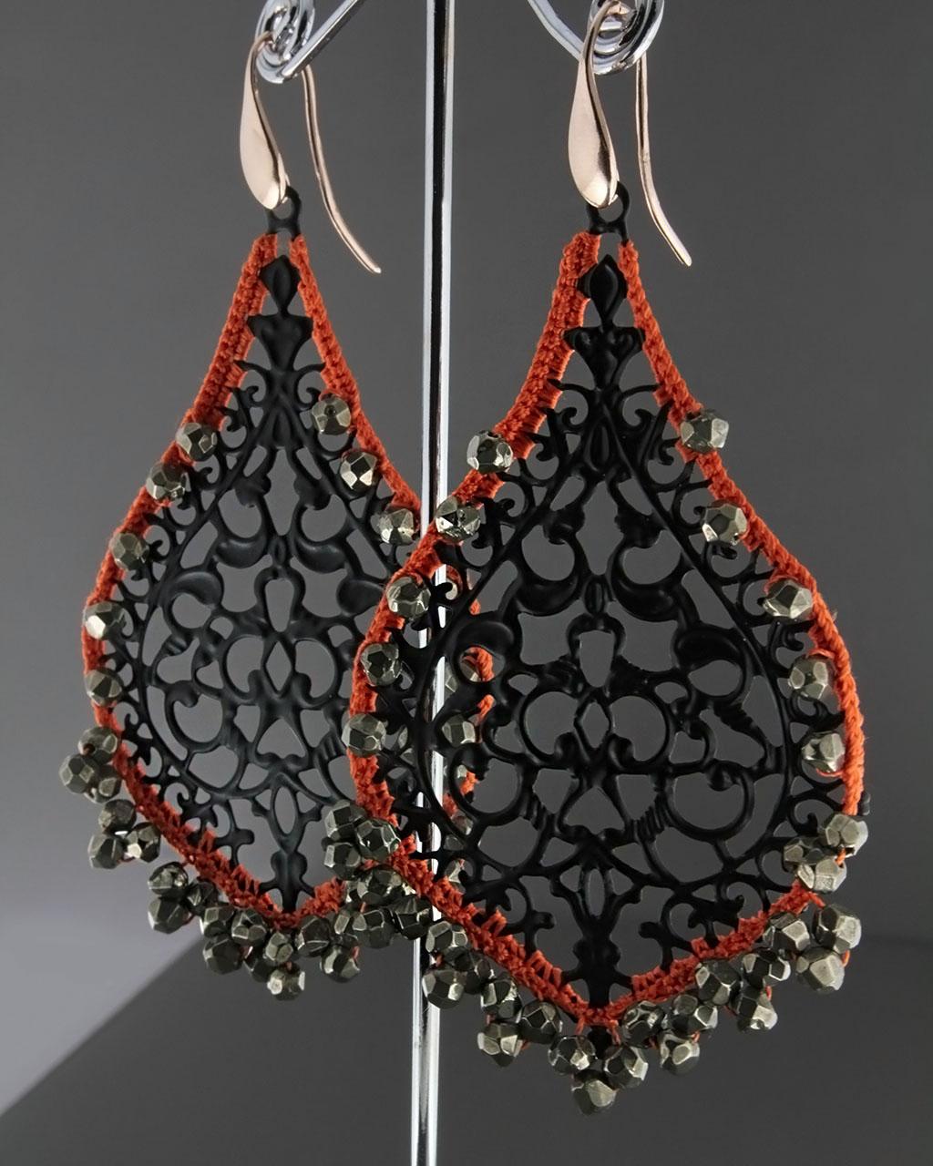 Σκουλαρίκια με Σμάλτο & Ορυκτές πέτρες   γυναικα σκουλαρίκια σκουλαρίκια ημιπολύτιμοι λίθοι