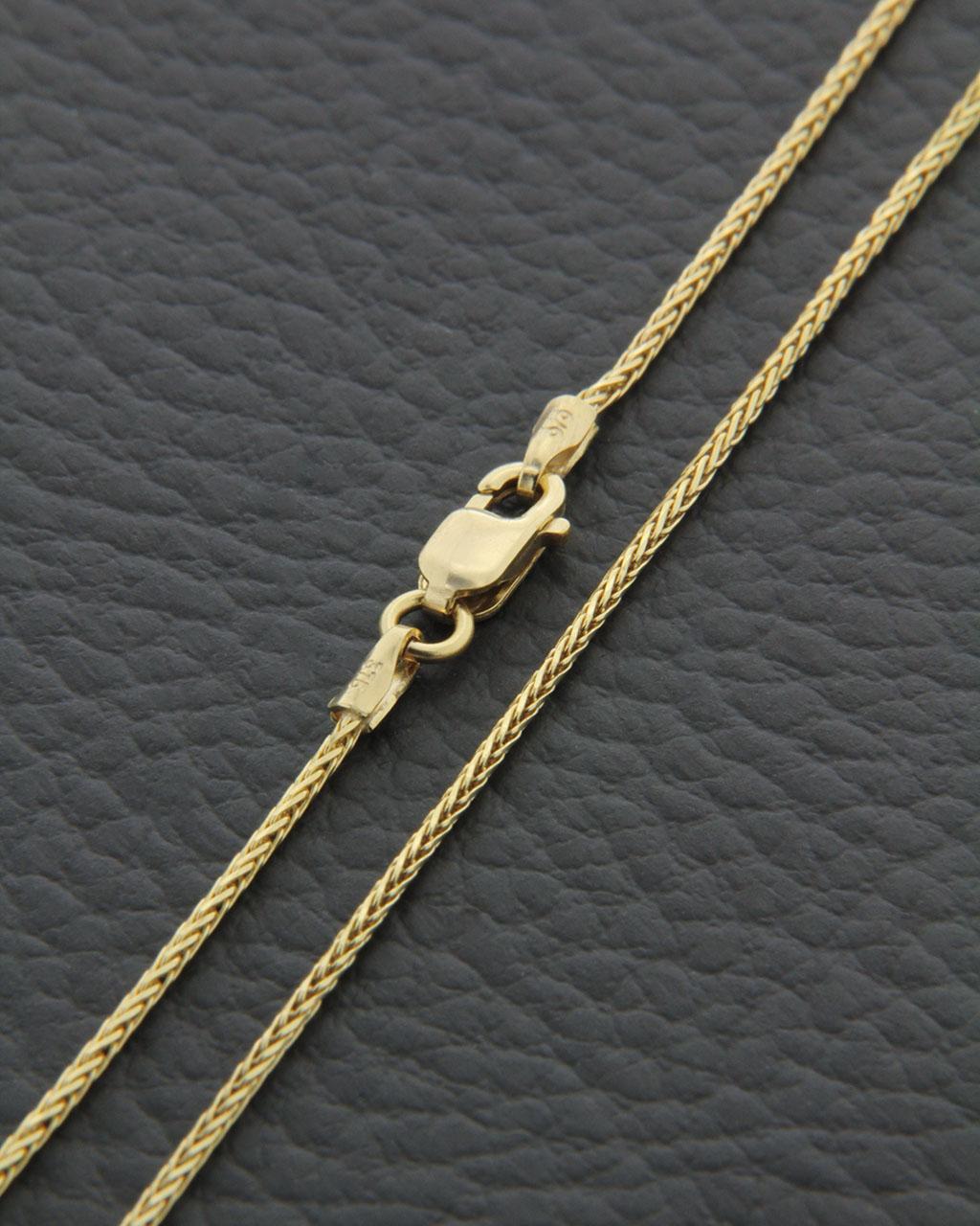 Αλυσίδα λαιμού χρυσή Κ14 45cm   παιδι αλυσίδες λαιμού αλυσίδες χρυσές