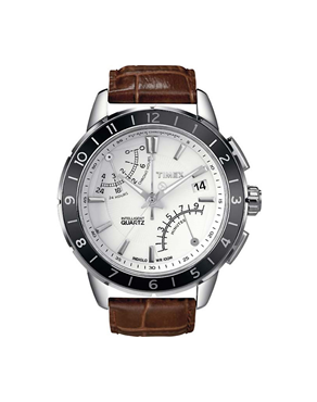 Ρολόι TIMEX Fly Back Chronograph Brown T2N496