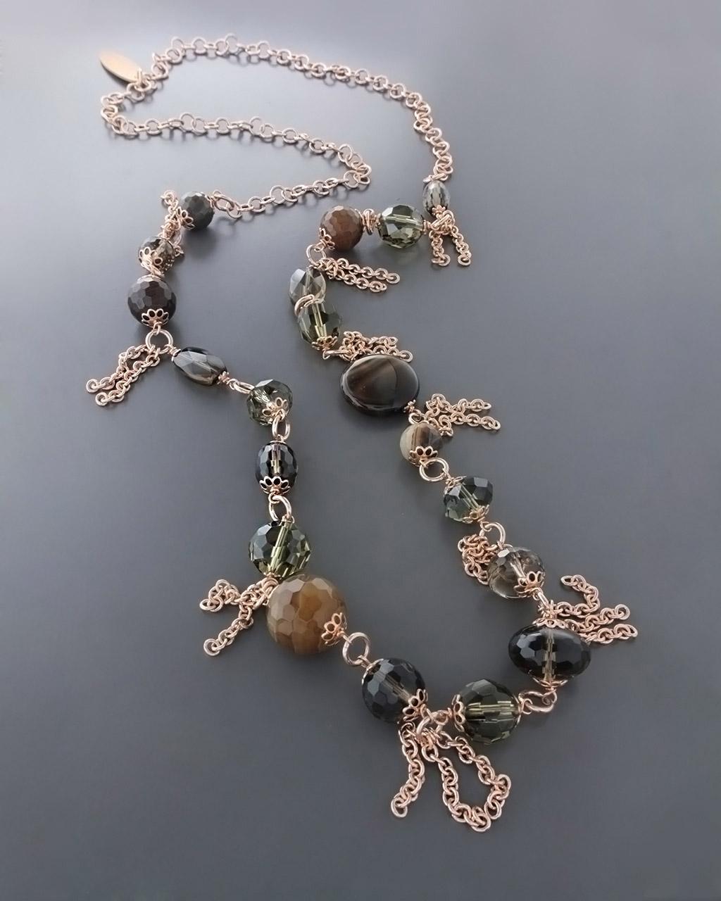 Κολιέ με Ορυκτές πέτρες   γυναικα κρεμαστά κολιέ κρεμαστά κολιέ ημιπολύτιμοι λίθοι