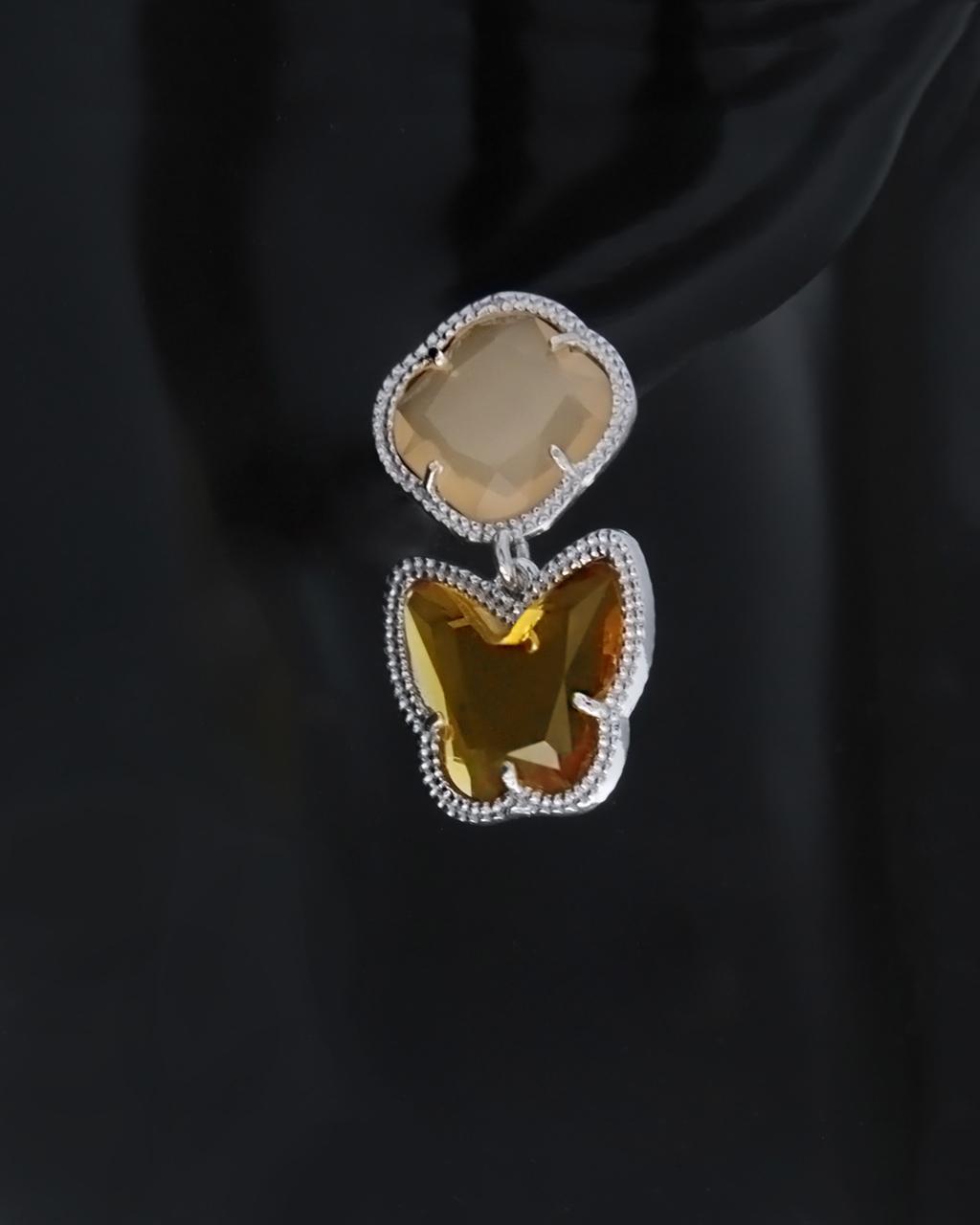 Σκουλαρίκια ασημένια 925 με Ζιργκόν & Ορυκτές πέτρες   γυναικα σκουλαρίκια σκουλαρίκια ημιπολύτιμοι λίθοι