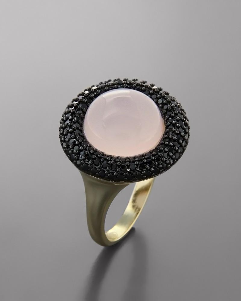 Δαχτυλίδι ασημένιο 925 με Quartz & Ζιργκόν   κοσμηματα δαχτυλίδια δαχτυλίδια ημιπολύτιμοι λίθοι