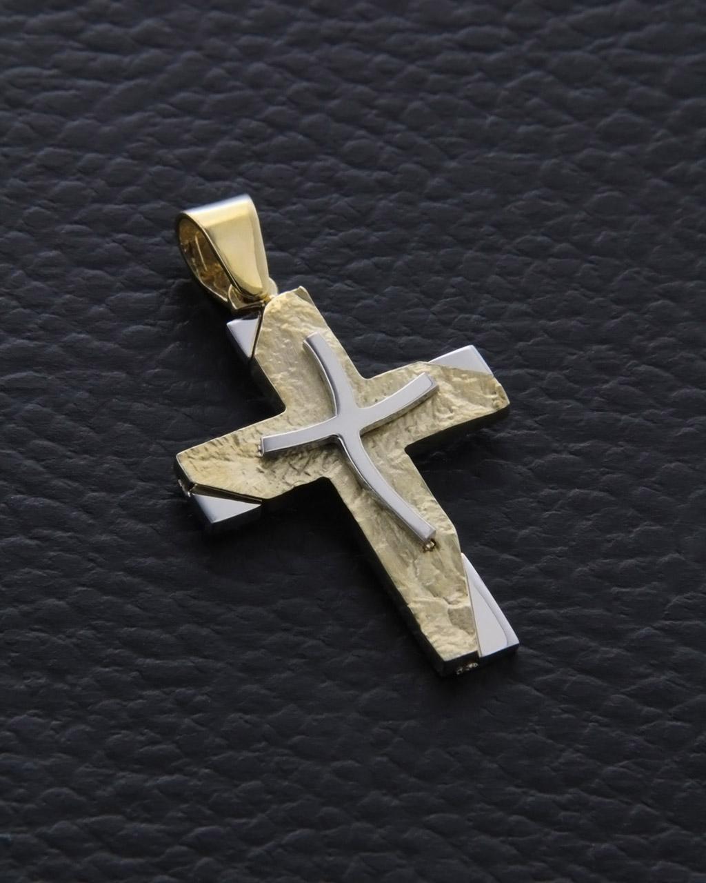 Σταυρός βάπτισης χρυσός & λευκόχρυσος Κ14   παιδι βαπτιστικοί σταυροί βαπτιστικοί σταυροί για αγόρι