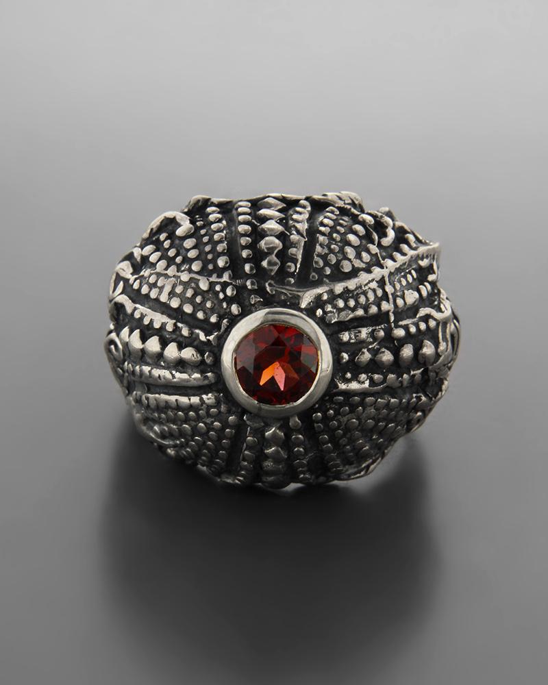 Δαχτυλίδι ανδρικό ασημένιο 925 με Ζιργκόν