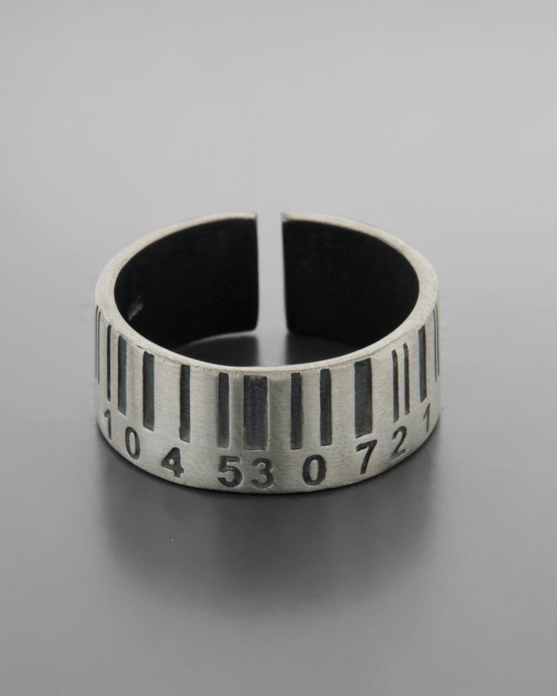 Ανδρικό ασημένιο 925 δαχτυλίδι με barcode   νεεσ αφιξεισ κοσμήματα ανδρικά