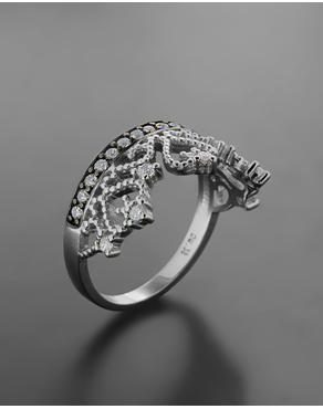 Δαχτυλίδι στέμμα ασημένιο 925 με ζιργκόν c265bdbae3f