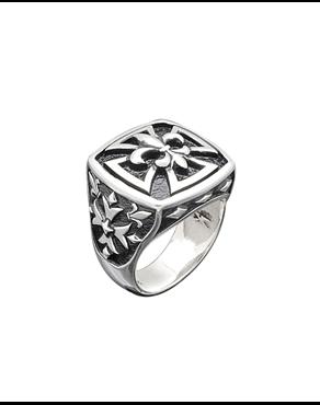 c8198653d7 Δαχτυλίδι ασημένιο 925 με σταυρό