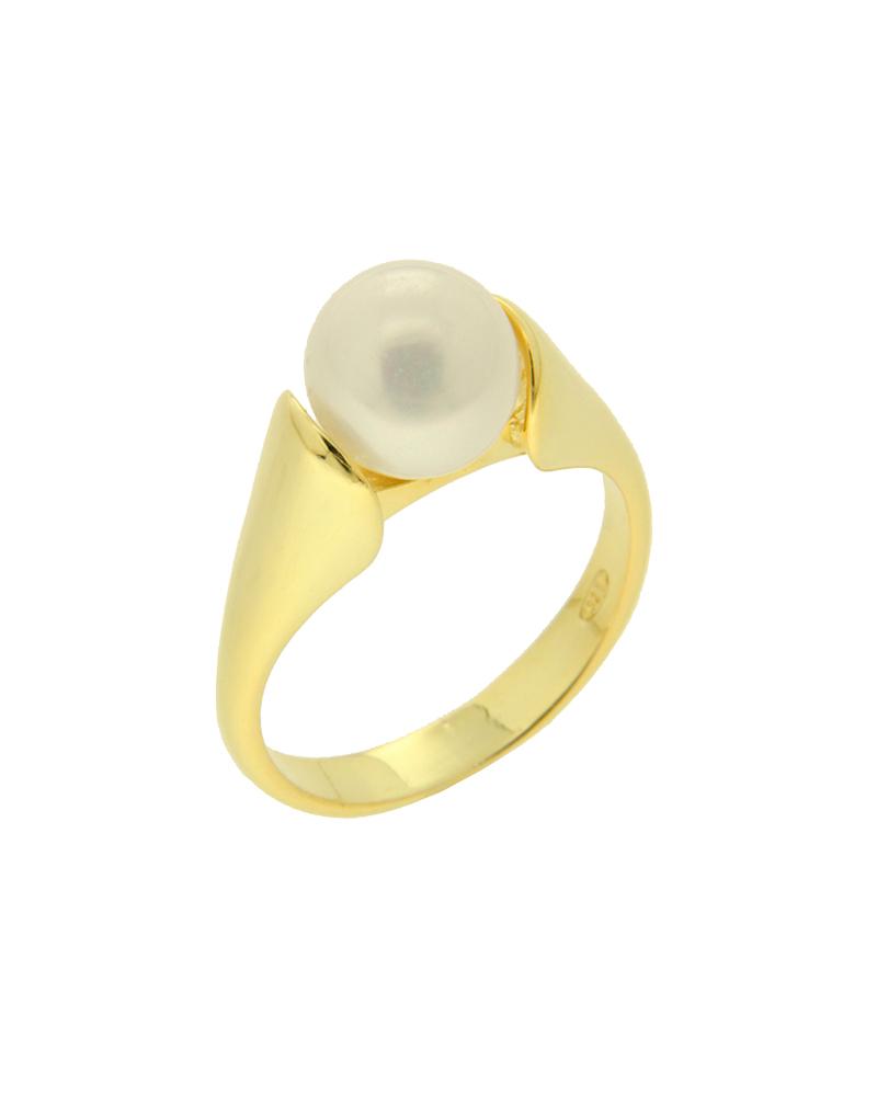 Δαχτυλίδι ασημένιο 925 με πέρλα