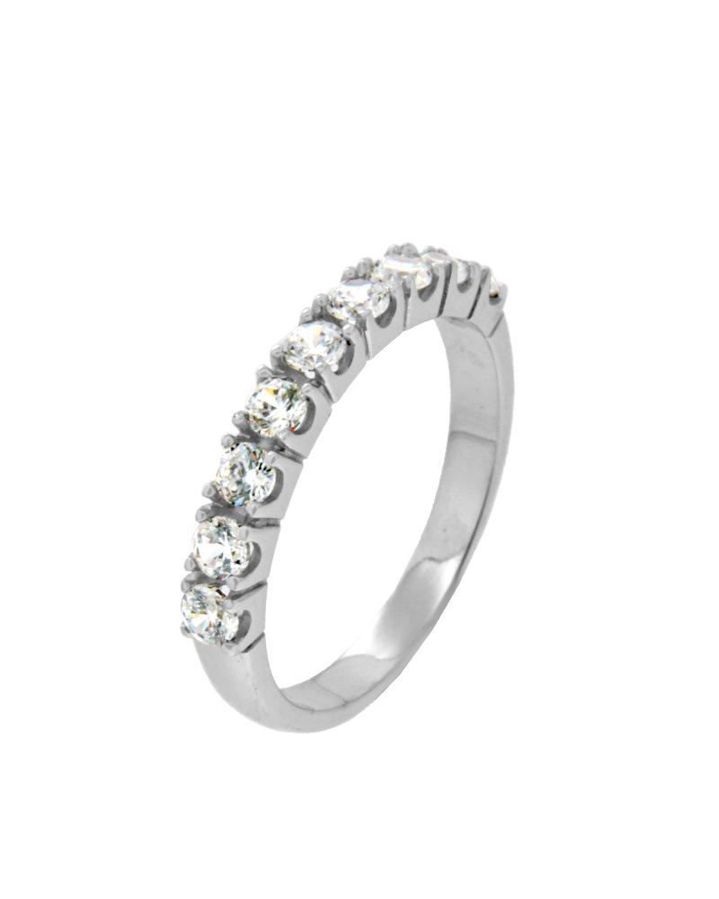 Δαχτυλίδι σειρέ ασημένιο 925 με ζιργκόν