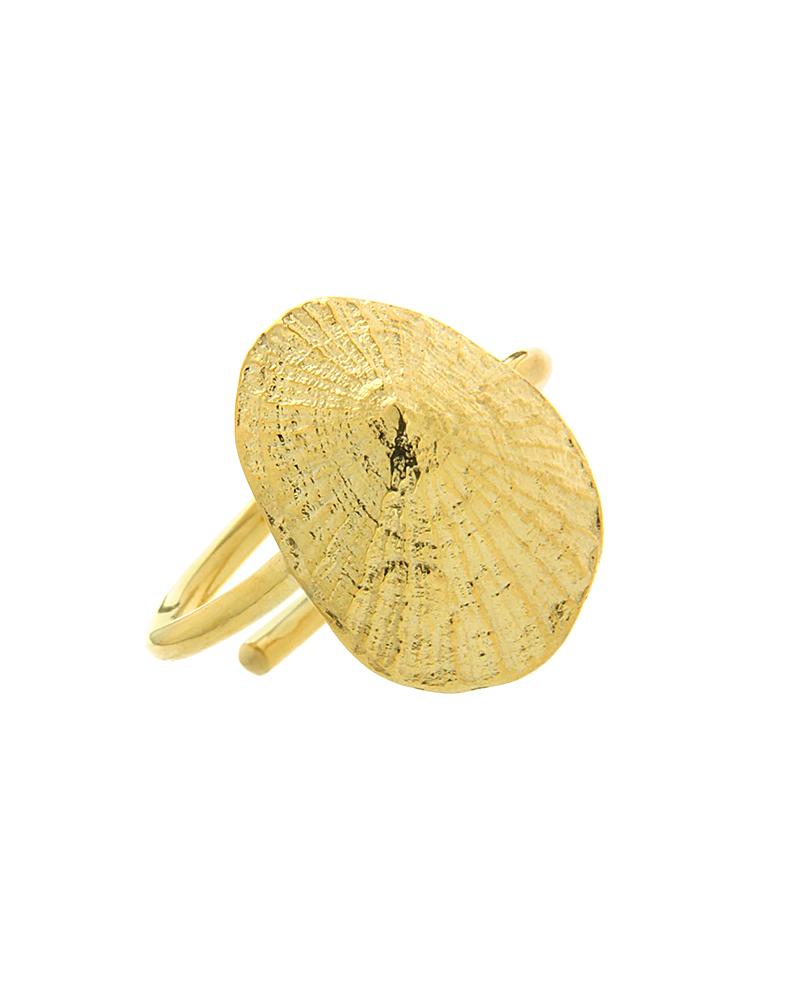 Δαχτυλίδι ασημένιο 925 με κοχύλι
