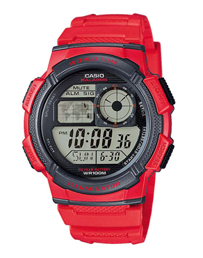 Ρολόι CASIO Collection Digital Red AE-1000W-4AVEF
