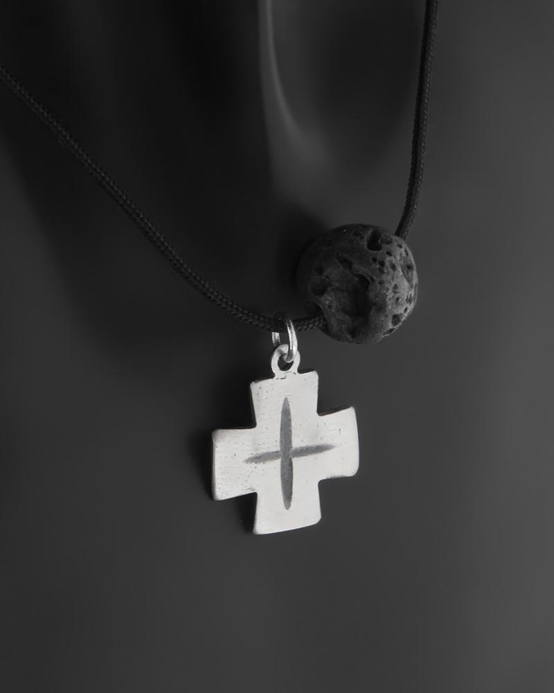 Μοντέρνος σταυρός ασημένιος 925 με Λάβα   κοσμηματα σταυροί σταυροί ανδρικοί