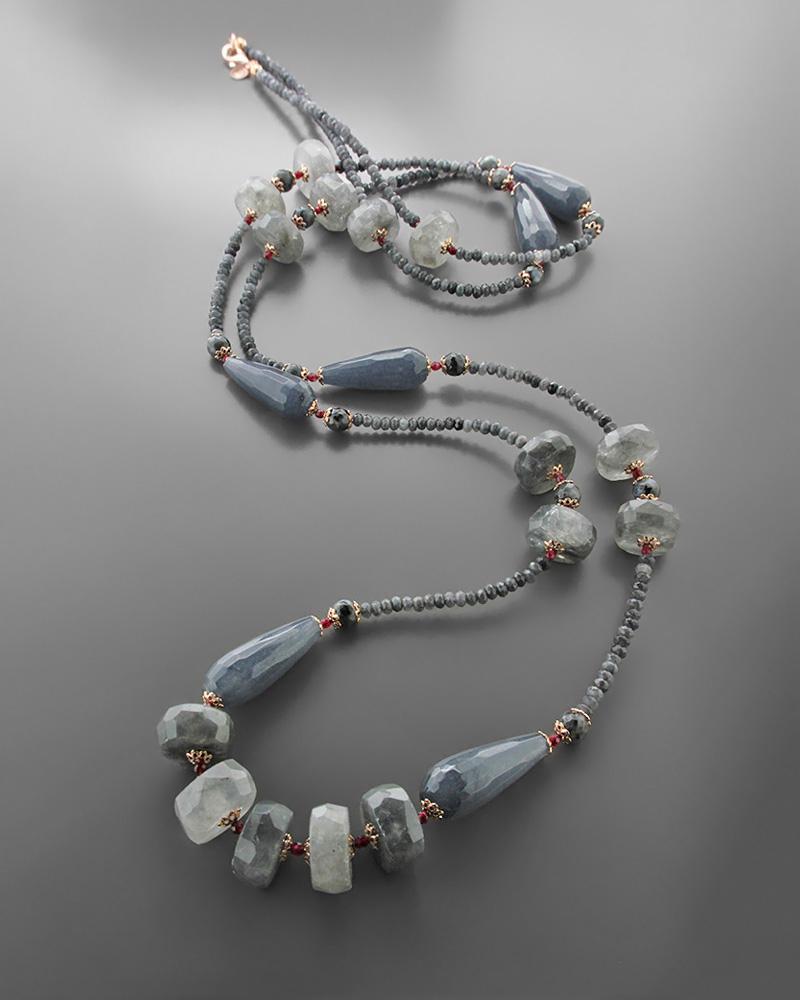 Κολιέ ασημένιο 925 με ημιπολύτιμους λίθους   κοσμηματα κρεμαστά κολιέ κρεμαστά κολιέ ημιπολύτιμοι λίθοι