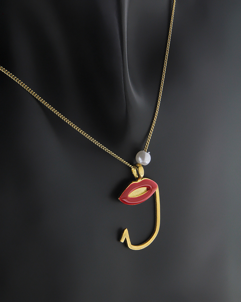 Κολιέ με τον αριθμό 9 ασημένιο 925 με κόκκινο σμάλτο   δωρα γούρια γούρια 2019