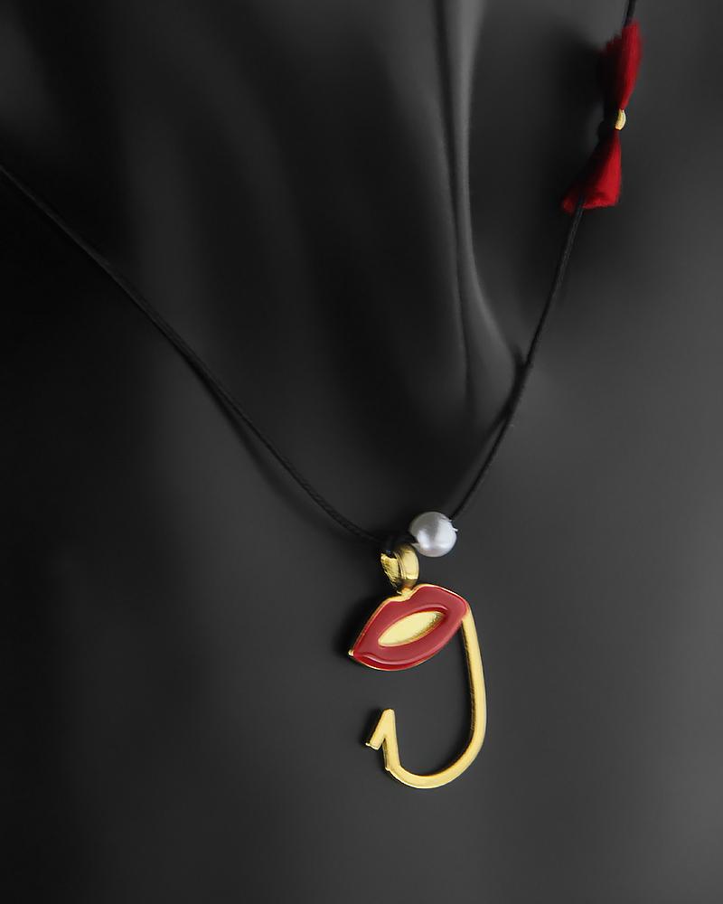 Επιχρυσωμένο κολιέ ασημένιο 925 με τον αριθμό 9   κοσμηματα κρεμαστά κολιέ κρεμαστά κολιέ ασημένια