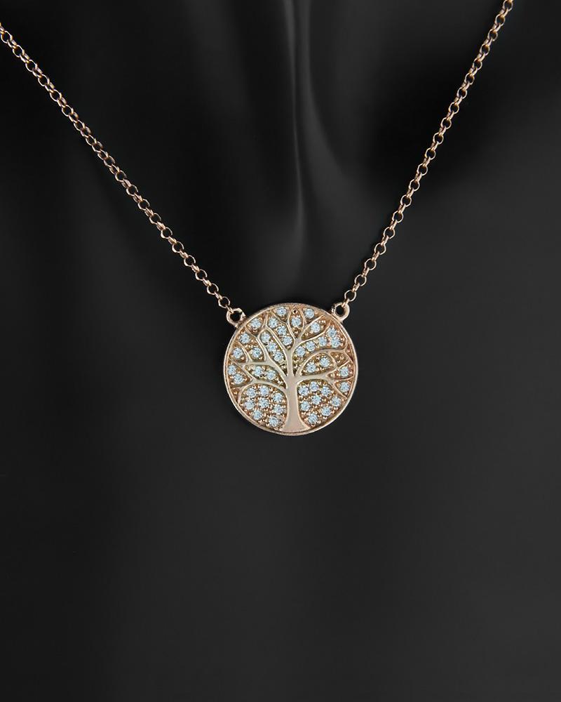 Κολιέ δέντρο της ζωής ασημένιο 925 με ζιργκόν   νεεσ αφιξεισ κοσμήματα γυναικεία