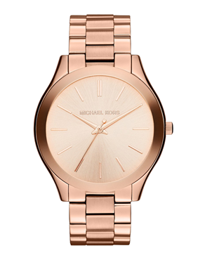 Ρολόι Michael Kors Slim Runway Gold Rose MK3197