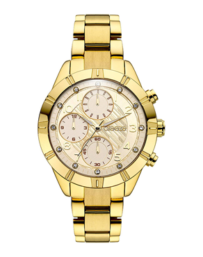 Ρολόι BREEZE Influentia Crystals Dual Time Gold 211071.2