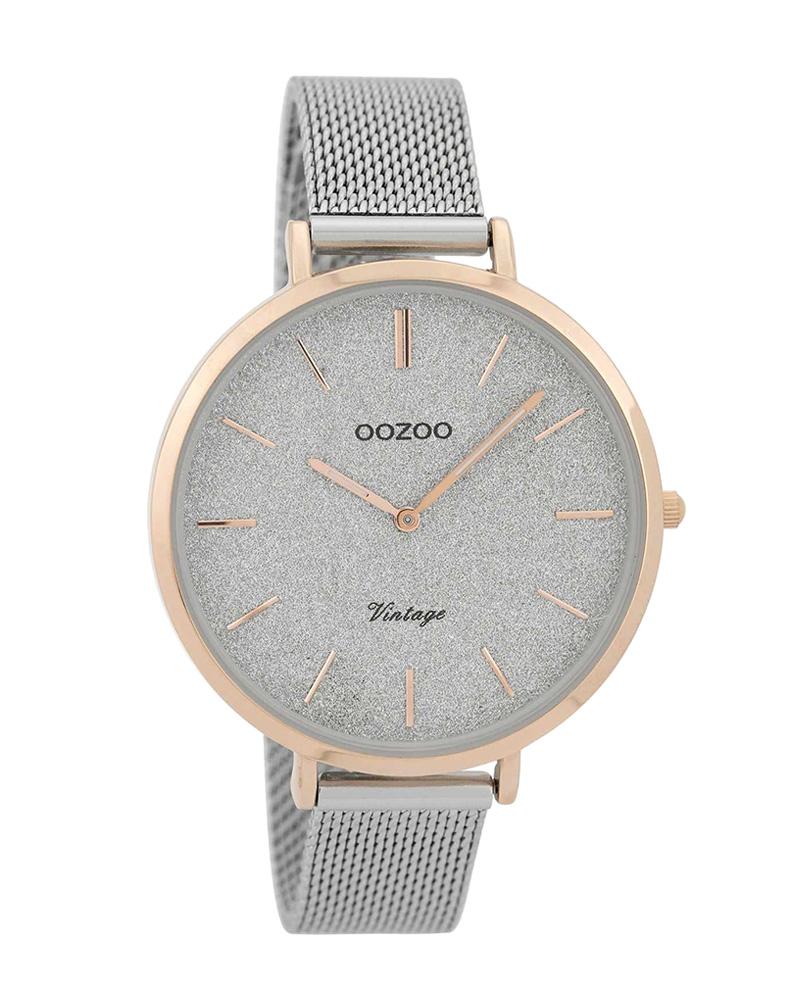 Ρολόι OOZOO Vintage Silver C9376   brands oozoo