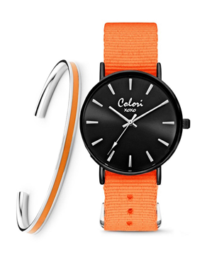 Ρολόι COLORI xoxo Orange COL556