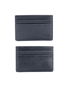 NAVA Credit card holder 4 cc -Black Leather PL426N