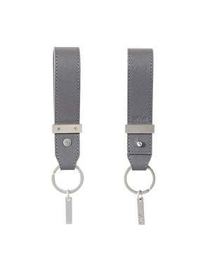 NAVA Leather grey key holder with metal accessories VD455DG