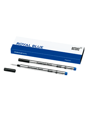 Montblanc 2 Rollerball Refills (M), Royal Blue 124504