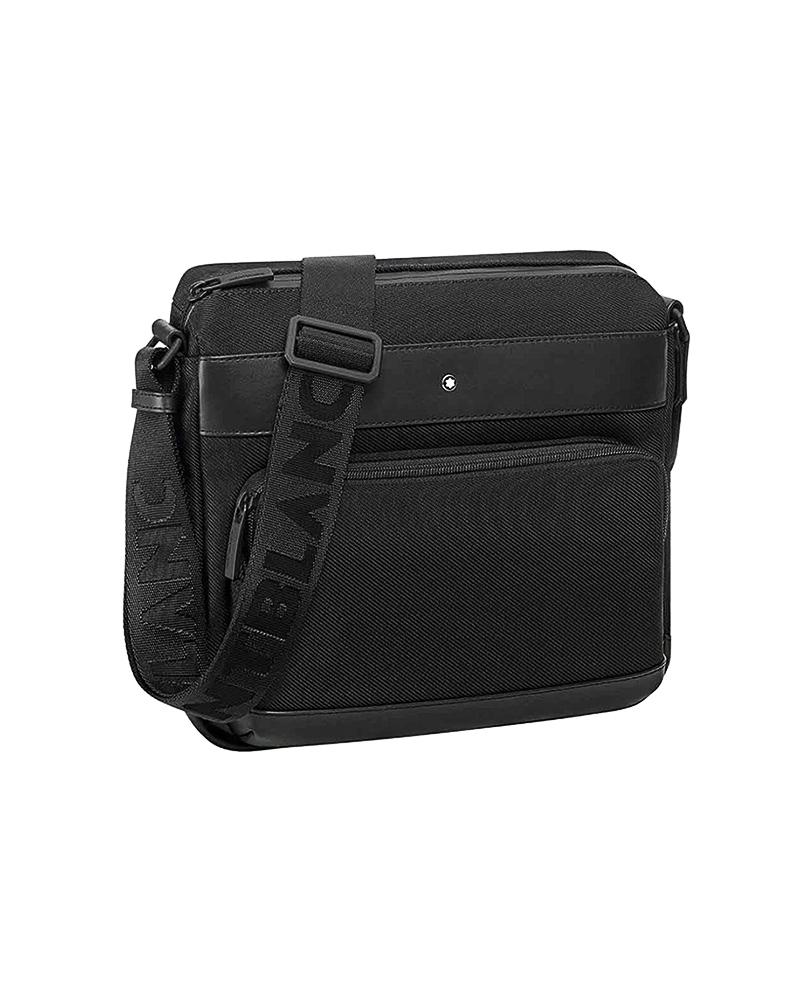 Montblanc 118253 Nightflight Black Reporter bag, Nylon/Leather,   brands montblanc δερμάτινα είδη   αξεσουάρ