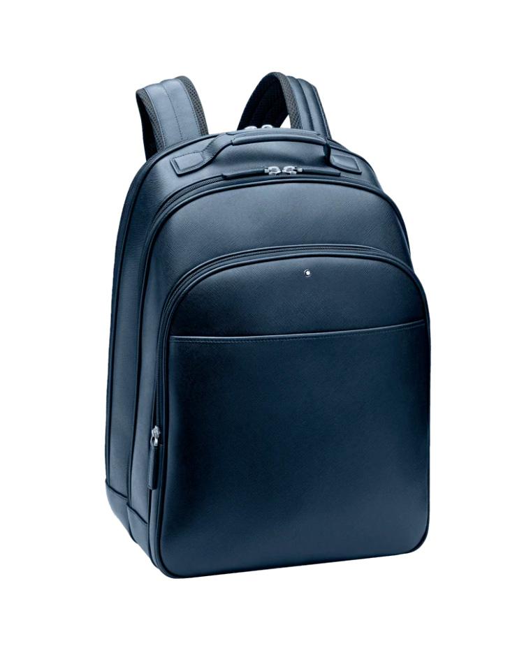Montblanc Sartorial Indigo Small Backpack 115629   brands montblanc δερμάτινα είδη   αξεσουάρ