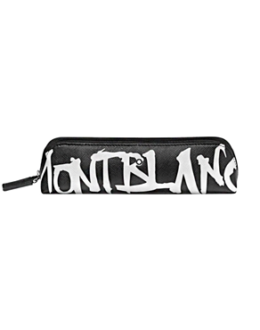 Montblanc Sartorial Calligraphy 2Pen Black Pouch Zip Top 124142