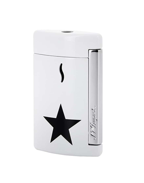 S.T. Dupont Lighter Minijet Star White - Black 010532