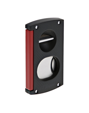 S.T. Dupont Double Blade Cigar Cutter black - red 003420