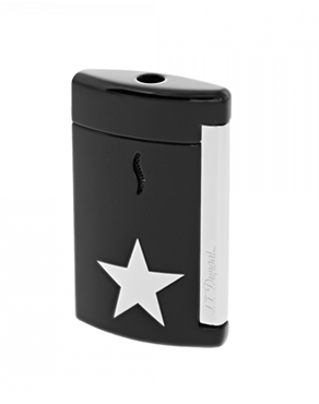 S.T. Dupont 010531 Lighter Minijet Star Black - White