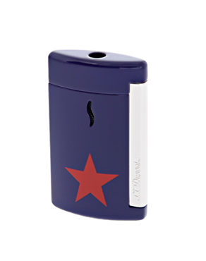 S.T. Dupont 010530 Lighter Minijet blue - red Star