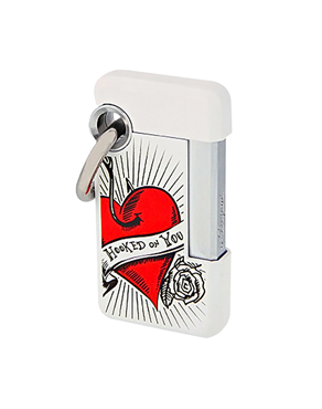 S.T. DUPONT HOOKED JET LIGHTER w. KEY RING / 032009 / VALENTIN-o