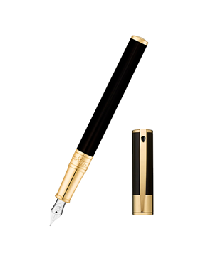 S.T. Dupont 260205 D-Initial fountain pen Black/Golden
