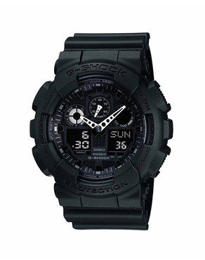 Ρολόι CASIO G-Shock Anadigi Black GA-100-1A1ER