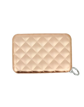 Ogon Quilted Zipper πορτοφόλι Rose Gold 3760127778325