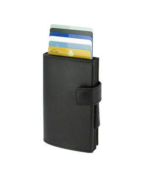 Ogon Cascade Wallet Card Case Snap Full Black 3760127770985