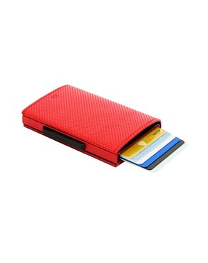 Ogon Cascade Wallet Card Case RFID Traforato Red B3760127770275