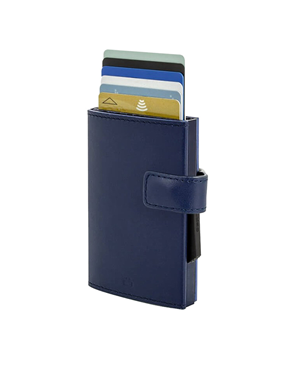Ogon Cascade Wallet Card Case Snap Full Navy Blue 3760127770800