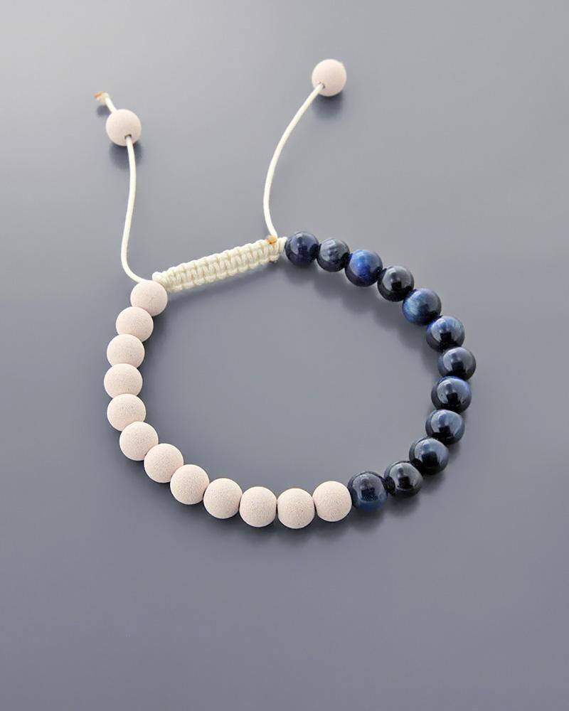 Βραχιόλι μακραμέ με ημιπολύτιμες χάντρες   κοσμηματα βραχιόλια βραχιόλια fashion