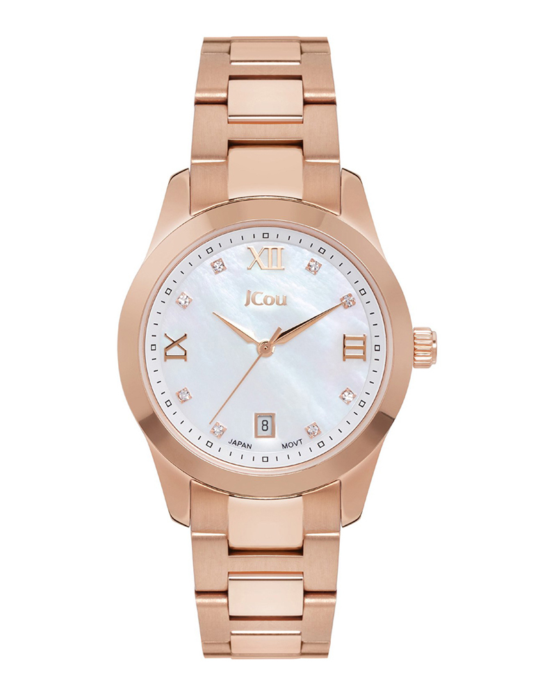 Ρολόι JCOU Pearl Crystals Rose Gold JU17065-1   ρολογια jcou