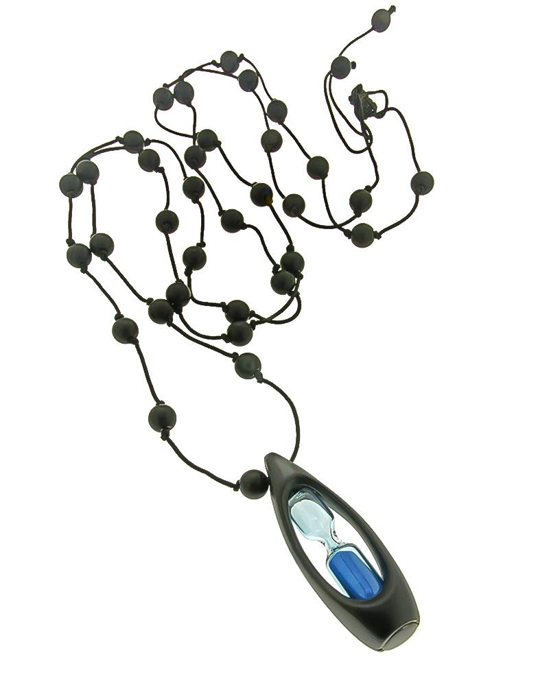 Κολιέ κλεψύδρα από κράμα μετάλλων με όνυχα   κοσμηματα κρεμαστά κολιέ κρεμαστά κολιέ ημιπολύτιμοι λίθοι