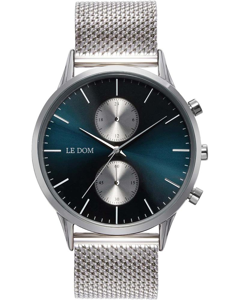 Ρολόι LE DOM Prime Chronograph Silver LD.1002-10   νεεσ αφιξεισ ρολόγια