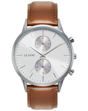 Ρολόι LE DOM Prime Chronograph Brown LD.1002-13